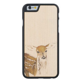 Ung hjort - fodral för iPhone 6/6s - trä Carved® Lönn iPhone 6 Fodral