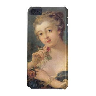 Ung kvinna med en bukett av ro av Francois Bo iPod Touch 5G Fodral
