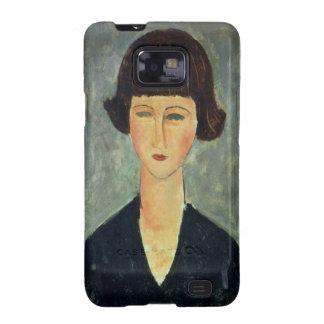 Unga Brunett, 1917 (olja på kanfas) Samsung Galaxy S2 Fodral