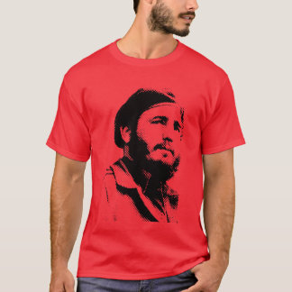 Unga Fidel med en drömlik lookt-skjorta Tee