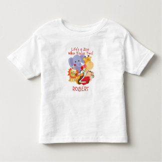 Ungar för födelsedagen för Zoodjur skräddarsy 2nd Tee Shirt