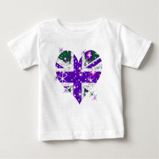 Ungar för hjärta för UK-flagga sparkly Tröjor