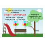Ungar parkerar födelsedagsfest inbjudan