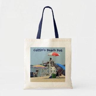 Ungar tre på stranden Beachbag Tygkasse