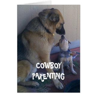 Ungar växer upp med din hjälp - Cowboybarnuppfostr Kort