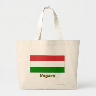 Ungarn Flagge mit Namen Tygkasse