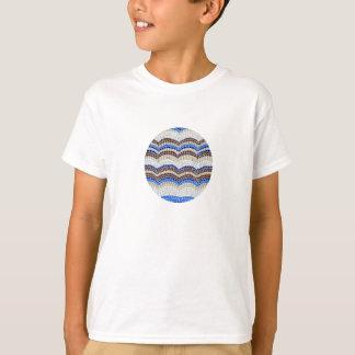 Unge för blått mosaisk T-tröja för bomull Tröja