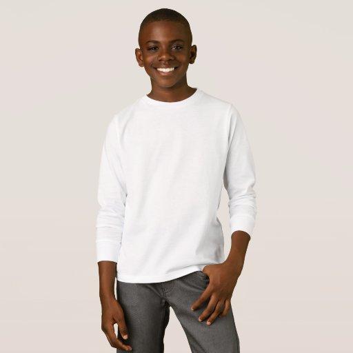 Barn Basic Långärmad T-Shirt, Vit