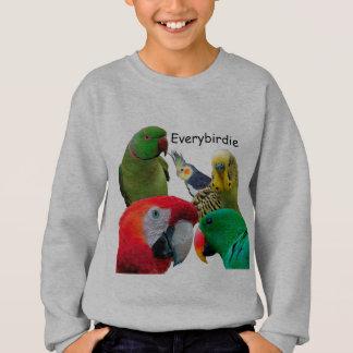 Unge Hanes tröja för Everybirdie papegojakärlek