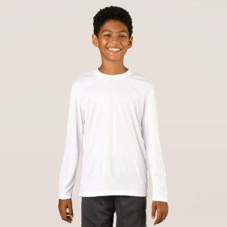 Unge T-tröja för långärmad för Sport-Tekkonkurrent Tee Shirt