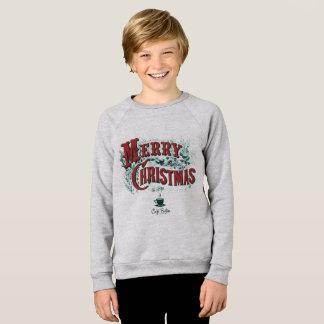 Unge tröja för Raglan för CaféBoston julafton