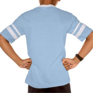 Unge V-Nacke för Augusta Retro randig sleeve Tee Shirts