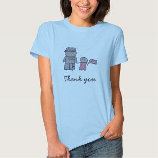 Ungemilitären tackar dig kvinna t-skjorta t shirts