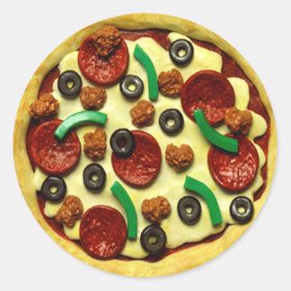 UngePizzafödelsedagsfest Runt Klistermärke