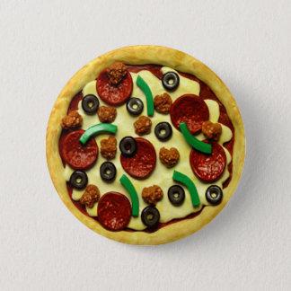 UngePizzafödelsedagsfest Standard Knapp Rund 5.7 Cm