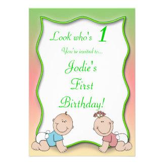 Ungeregnbågefödelsedagsfest inbjudan