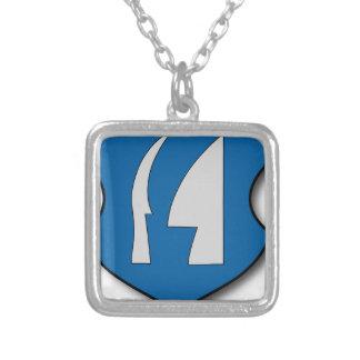 Ungern #7 silverpläterat halsband