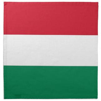 Ungersk flagga på den MoJo servetten Tygservett