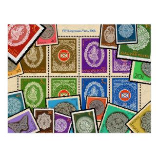 Ungersk snörefrimärkeserie - 1960 vykort