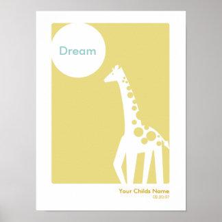 Ungerumaffisch - giraff poster