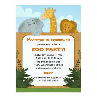 UngeZoofödelsedagsfest inbjudan