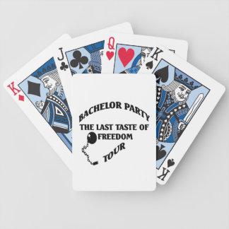 Ungkarlparty - sist smak av frihet turnerar spelkort