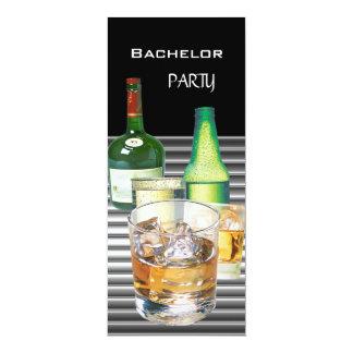 Ungkarlpartyet dricker flaskor 2 10,2 x 23,5 cm inbjudningskort