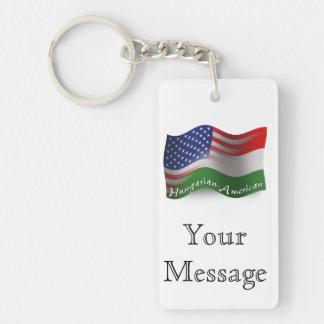 Ungrare-Amerikan som vinkar flagga