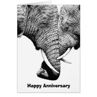 Ungt afrikanskt elefantårsdagkort hälsningskort
