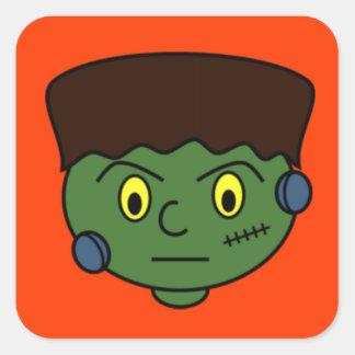 Ungt Frankenstein monster Fyrkantigt Klistermärke