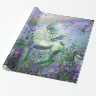 Unicorn av sjalen för fjärilskonstgåva presentpapper