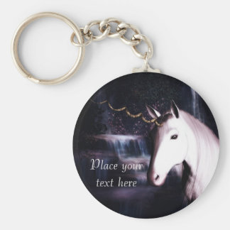 unicorn dröm- Keychain Rund Nyckelring