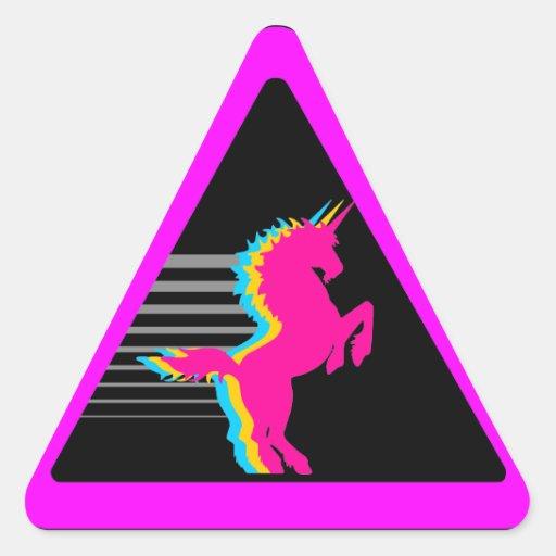 Unicorn för Corey tiger80-tal Klistermärke