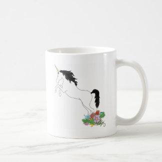 Unicorn från blommorna kaffemugg