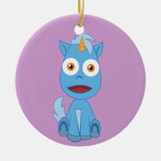 Unicorn - gulligt fantasitecken julgransprydnad keramik