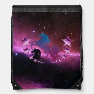Unicorn med stjärnor gympapåse