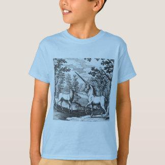 Unicorn och fullvuxen hankronhjort t-shirt