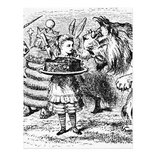 Unicorn och lejont brevhuvud