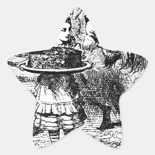 Unicorn och lejont stjärnformat klistermärke