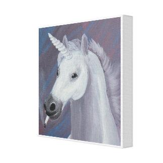 unicorn som röker målning canvastryck