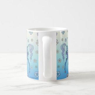 Unicornblek - blått i blommor kaffemugg