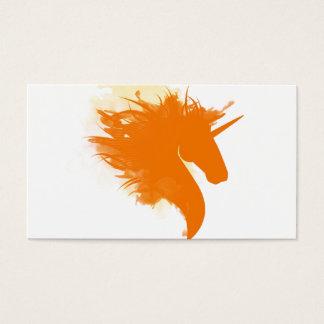 Unicornen avfyrar på visitkort