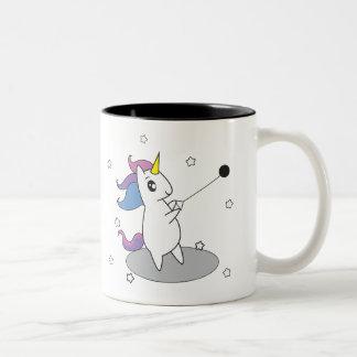 Unicornen bultar kastmuggkoppen Två-Tonad mugg