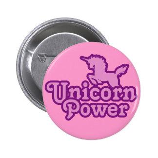 Unicornen driver! Rolig novelty knäppas Standard Knapp Rund 5.7 Cm