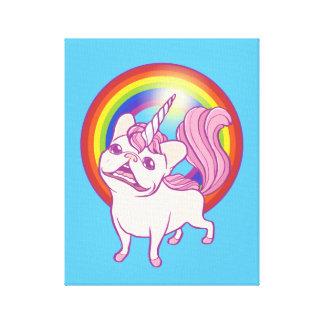 Unicornen Frenchie Canvastryck