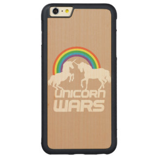 Unicornen kriger iphone case carved lönn iPhone 6 plus bumper skal