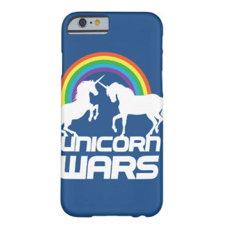 Unicornen kriger med regnbågeiphone case barely there iPhone 6 fodral