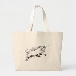 unicornen skissar moderiktig mode för jumbo tygkasse