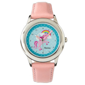 Unicornen * välj din bakgrundsfärg armbandsur