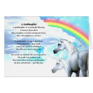 UnicornGoddaughterdikt Hälsningskort